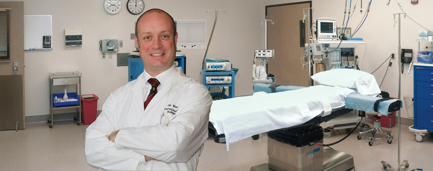 Image of Dr. Gavin Wood in an operating room.